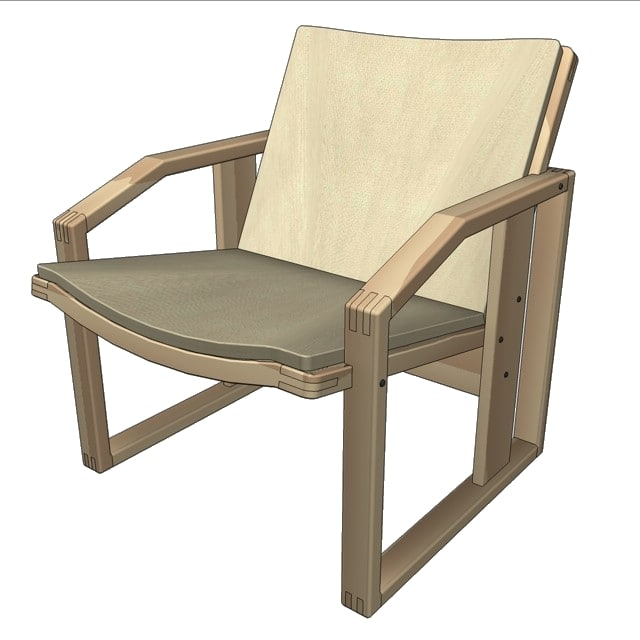 easy chair ludva 3ds