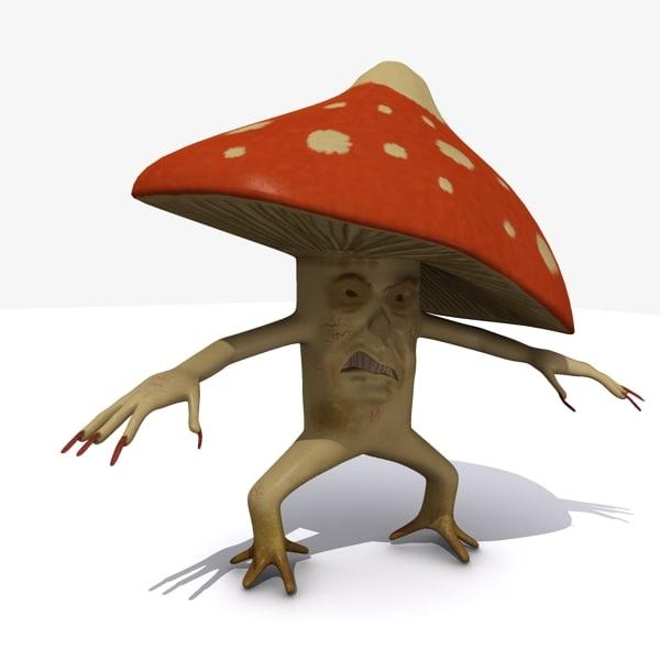 3ds max evil mushroom