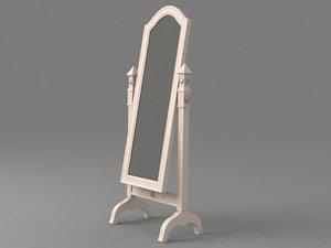 classic mirror 3d model
