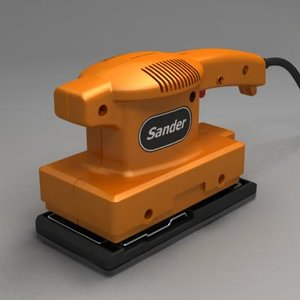 electric sander 3d obj