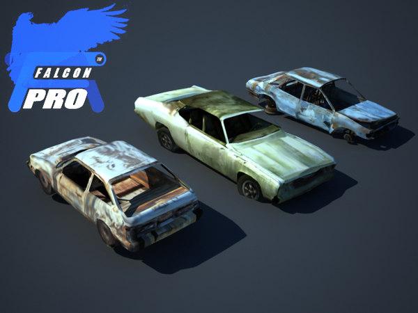 wreak devastated cars 3d model