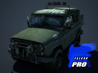 uaz russian military jeep max