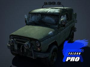 uaz russian military jeep max