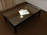 glass coffee table 3d 3ds