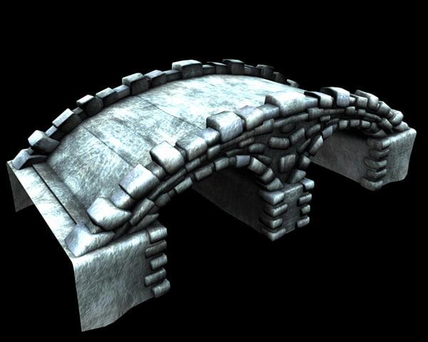 3d old stone bridge model