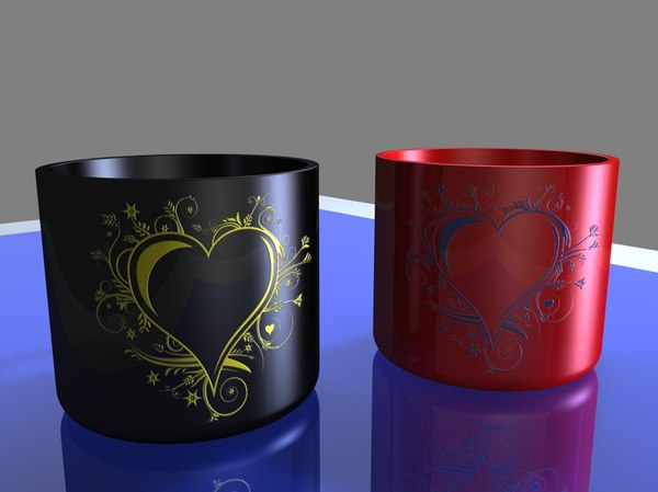 3d love cup