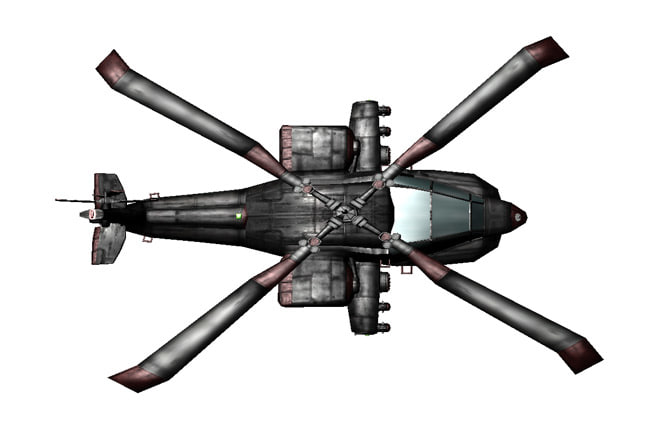apache attack helicopter 3d obj