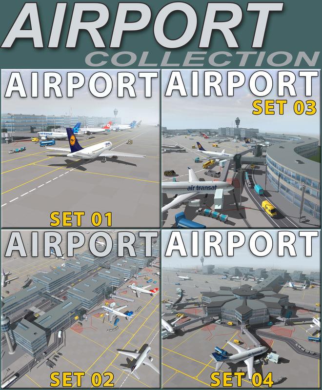 3d model airport terminal air