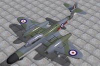 3dsmax armstrong whitworth meteor fighter
