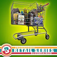 shopping cart grocery - 3ds
