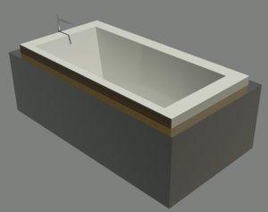 3d bain ultra bathtub model