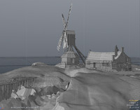 Brugge Windmill Building & Landscape