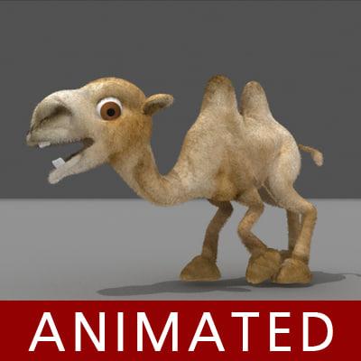3d model mongolian camel