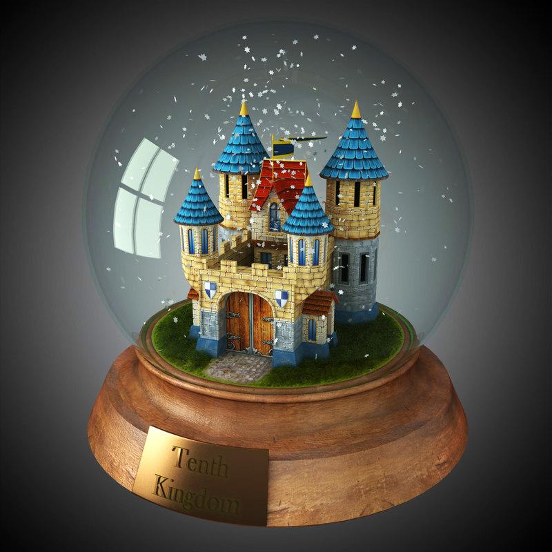 max snow globe castle