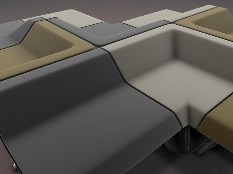 3d modular seating model