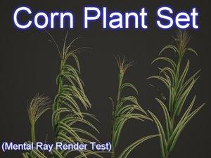 3ds set corn plants