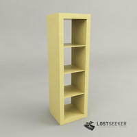 ikea expedit shelving unit 3d model
