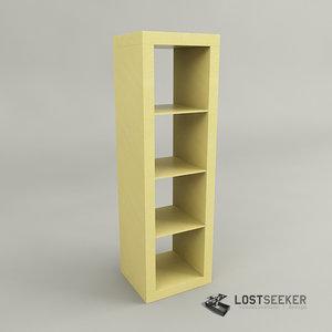 ikea expedit shelving unit 3d model