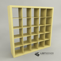 3ds max ikea expedit bookcase 5x5