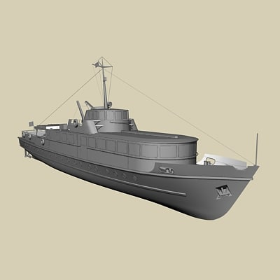 ferry boat 3d 3ds