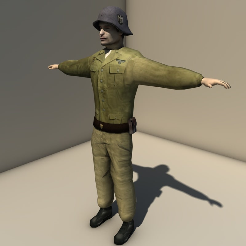 3ds ww2 german soldier
