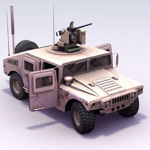 m1114 hmmwv crowsii army 3d model