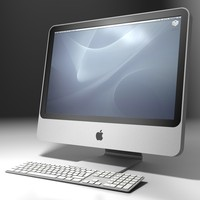 apple imac keyboard 3d c4d