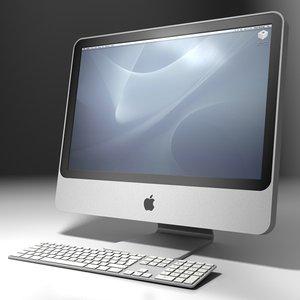 apple imac keyboard 3d c4d