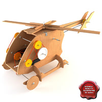 Mechanical Wooden Toy Helicopter