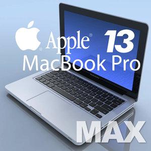 notebook apple macbookpro 13 3d model