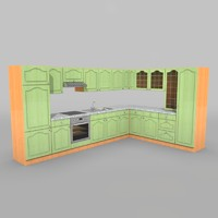 3d model kitchen textur