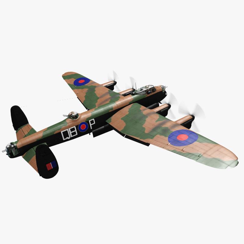 lancaster iii 3d model