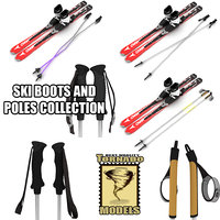 Skis Boots and Poles Collection