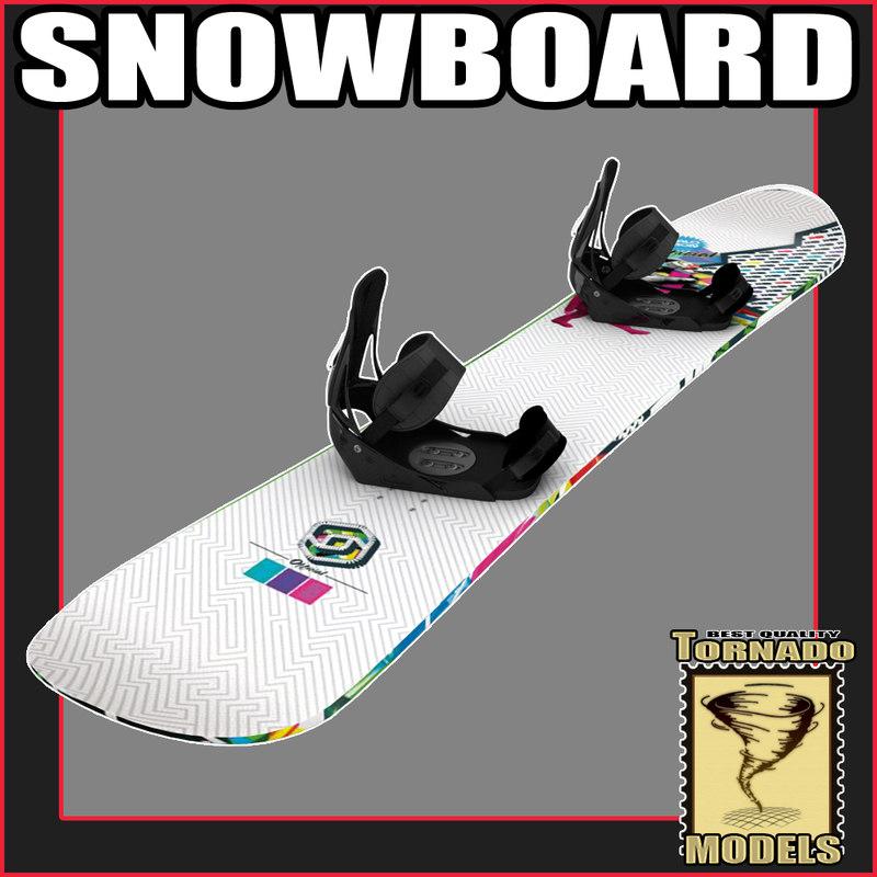 snow board snowboard 3d model