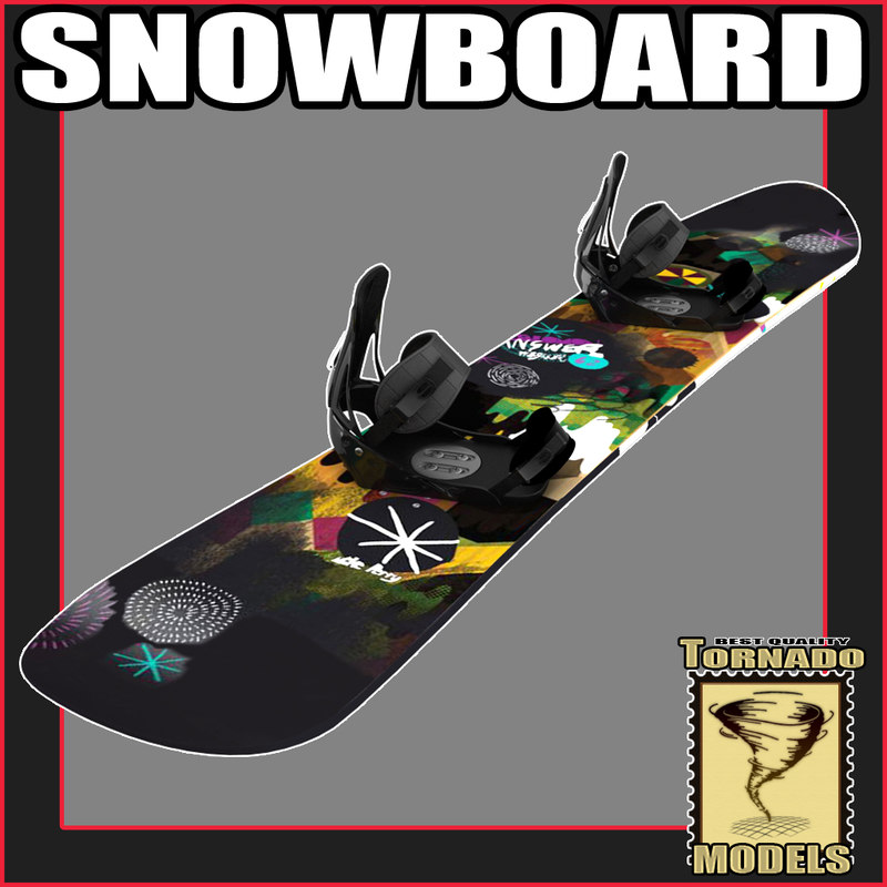 3d model snow board snowboard