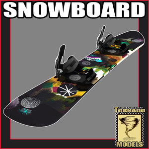 3d model snow board snowboard