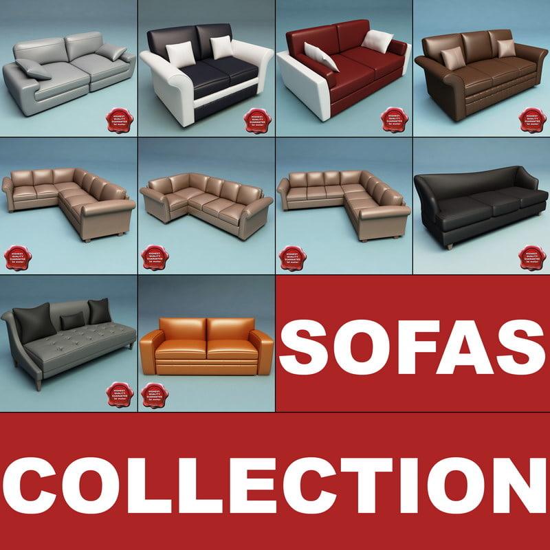 3d model sofas modelled