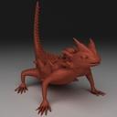 Horned Lizard 3D models