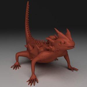 3d thorny devil model