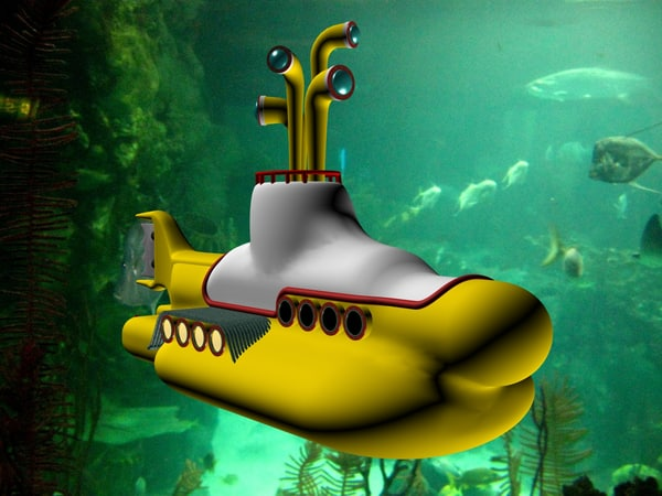 3d beatles yellow submarine model