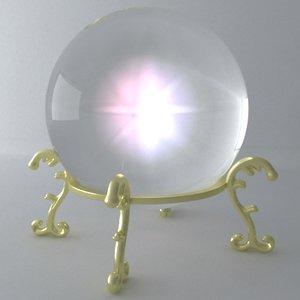 3d max crystal ball