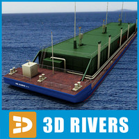 3d barge oil river transport