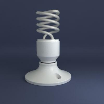 fluoresent bulb 3d max