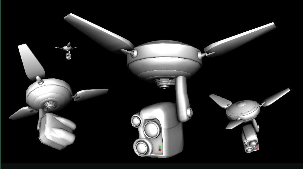 maya flying camera drone robotic