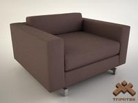 3d club chair