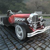 3dsmax duesenberg ssj roadster