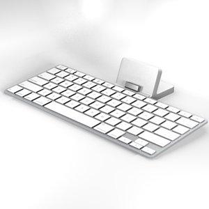 keyboard dock apple ipad 3d max
