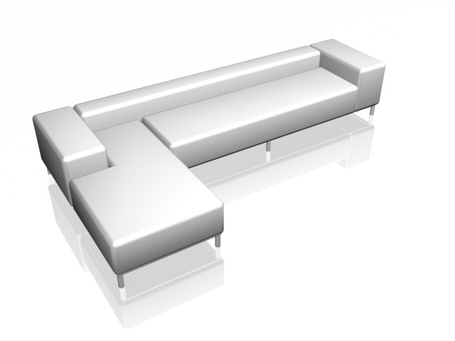 luxury sofa 3d model