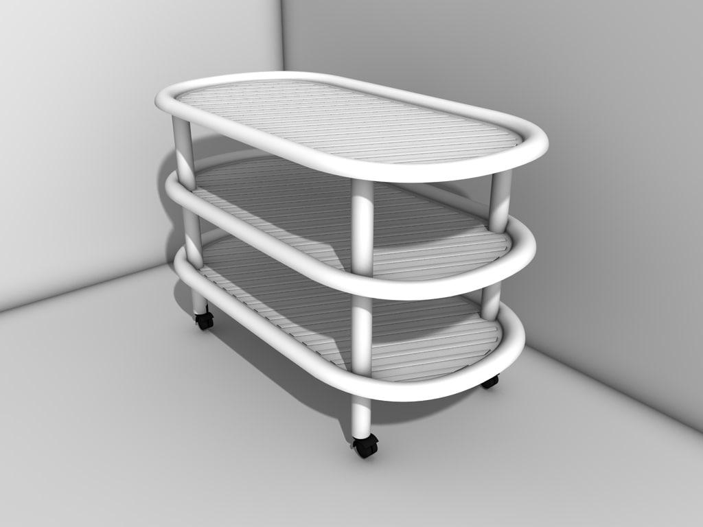 3d model of table bathroom
