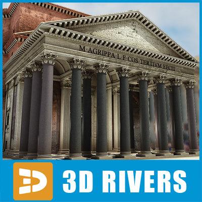 pantheon temple rome 3d x
